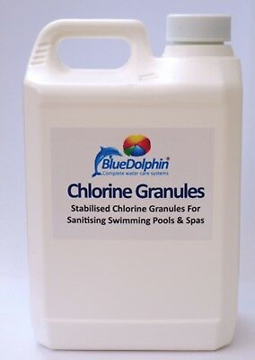 5kg premium grade stabilised Chlorine Granules for pools Hot tubs & Spas