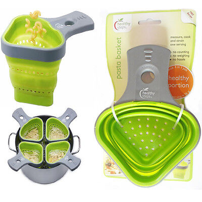 Pasta Basket Healthy Portion Control With Sieve Strainer Boilable Silicone Kit