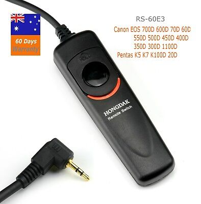 Wired Remote Shutter Release RS-60E3 for Canon 1100d 700d 600d 550d 70D 60d