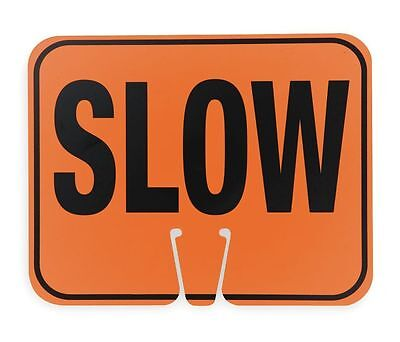 """Cortina 03-550-S ABS Plastic Traffic Cone Sign """"SLOW"""" 11"""" W x 13"""" H"""