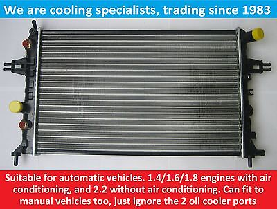 Brand New Radiator Vauxhall Astra G Mk4 / Zafira A Petrol Automatic With Air Con
