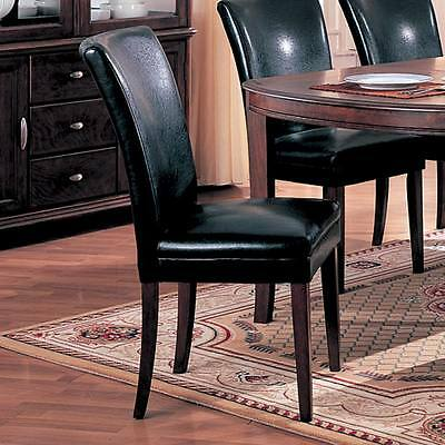 Soho Black Parson Dining Side Chairs by Coaster 4077BLK - Set of 2    NEW