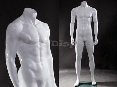 Fiberglass Male Headless Mannequin Dress Form Display #MZ-WEN4BW