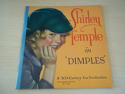 Vintage Shirley Temple In Dimples - A 20th Century Fox Production - 1936