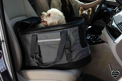 Valentina Valentti Luxury Dog Cat Puppy Pet Car Seat 3 in 1 Carrier Grey Large