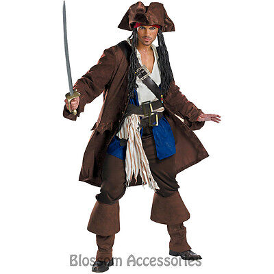 I65 Captain Jack Sparrow Pirate of the Caribbean PRESTIGE Adult Mens Costume