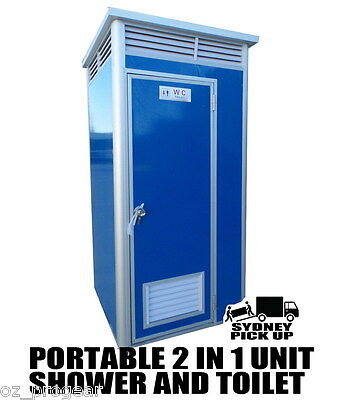 Brand new Portable Builders Toilet and Shower unit  2 IN 1  Portable toilet