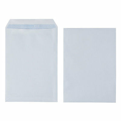 90 gsm white self-seal C4 plain business envelopes – pack of 250 A4 NO window