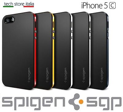 COVER BUMPER CUSTODIA CASE SLIM per IPHONE 5C SPIGEN NEO HYBRID TPU ARMOR