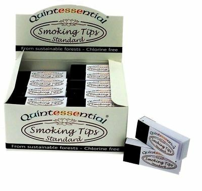 1, 5, 10, 25, 50 Quintessential White Standard Smoking Filter Tips Roaches