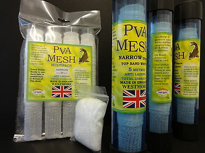 Westmore PVA MESH NARROW 25mm REFILLS make Stocking Pellet Boilie Bait Mix Bags
