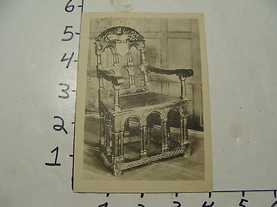 Vintage Travel Paper: bodleian library, oxford early card of Chair