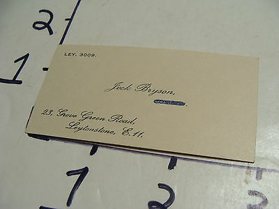 Vintage Travel Paper: 1950's Jock Bryson, tiny card Leytonstone E.H. for guide