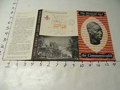 Vintage Travel Paper: the Festival and the Commonwelth SOUTH KENSINGTON SHOWS 51