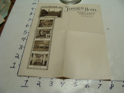 Vintage Travel Paper: THE IMPERIAL HOTEL russell square London W.C.I. STATIONARY
