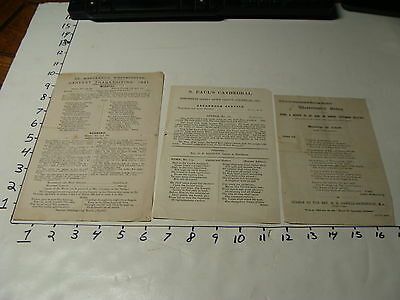 vintage travel paper--3 papers 1891 Westminster Abbey, St Pauls & St. Margaret's