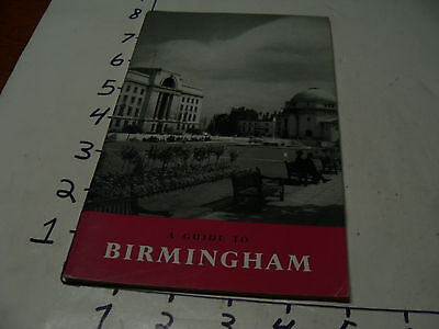 vintage travel paper--1955 a Guide to BIRMINGHAM, 48 pgs