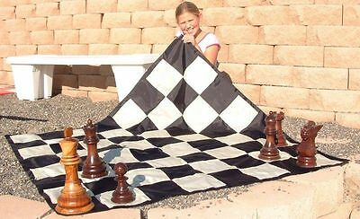 """MegaChess Large Nylon Chess/Checkers Board with 7"""" Squares  Outdoor Chess"""