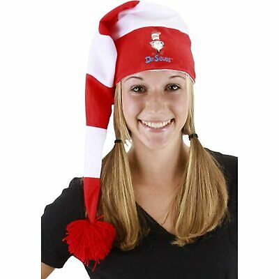 b56974c5de9 Adult Elope Dr. Seuss The Cat in the Hat Stocking Night Time Costume Hat Cap