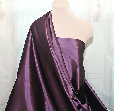 Satin Back Iridescent Taffeta Aubergine Purple  60 Wide Bty Bridal Suits Jackets