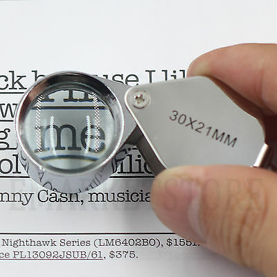 Jewellers Jewellery 30x21 Loupe Magnifying Glass Magnifier Glass Eye Lens