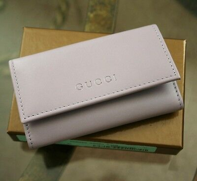 New Authenitc GUCCI Leather Key Chain/ Holder, LILAC, w/Box, 260989 5350
