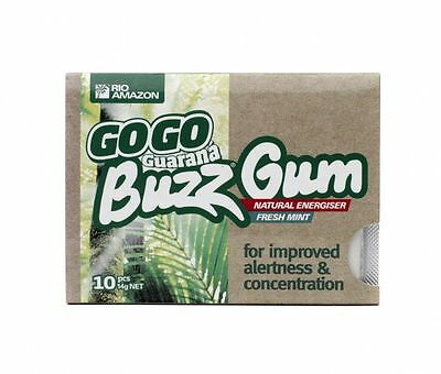 Rio Amazon Buzz Gum 500mg 10 chiclets (Pack of 12)