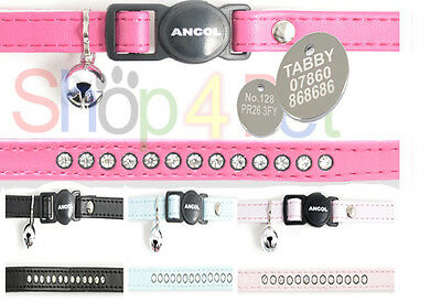 Ancol Deluxe Jewel Cat Collar with or without a PET ID TAG - ENGRAVING OPTIONAL