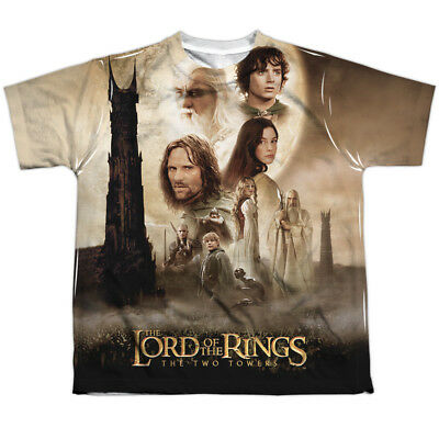 Lord of the Rings: Two Towers Fantasy Movie Poster Big Boys Front Print T-Shirt