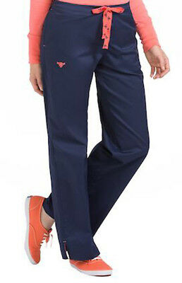 Med Couture Signature Nurse Scrub Pants. Style 8705. Navy-Apricot. NEW Free Ship