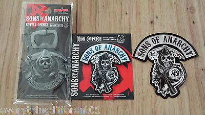 New Sons Of Anarchy Iron On Reaper Patch Magnetic 3D bottle Opener & Sticker