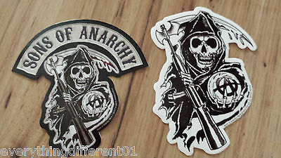 New Sons Of Anarchy S.O.A. Logo &  Reaper Stickers Biker Samcro FX Channel