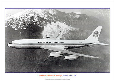 PAN AMERICAN BOEING 707 707-321 AIRCRAFT A3 POSTER PRINT PICTURE PHOTO IMAGE x
