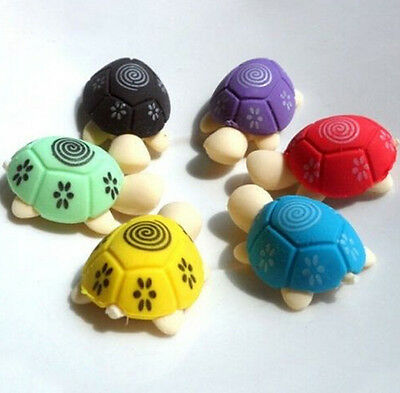 FD728 Cute Turtle Shape Rubber Eraser Stationary Kid Gift Toy ~2PCs Random Color