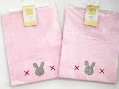 2 Lollipop Lane Flannelette Pram / Crib / Moses Basket Sheets Pink or Blue 70x90