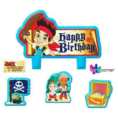 Jake And The Never Land Pirates Party Supplies Candle Mini Moulded Pack Of 4