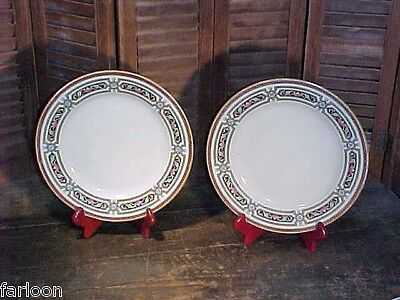Two C.1840 ADAMS TUNSTALL Polychrome LARGE PLATES Windsor Pattern