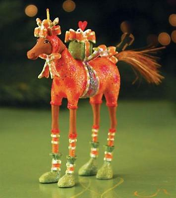 XMAS KRINKLES'MAISEY HORSE'MINI ORNAMENT NIB PATIENCE BREWSTER 2014 DECORATION