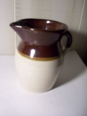 """R.R.P. Co. Roseville Ohio USA Brown And White - Cream Pitcher #121-K 4 3/4"""""""