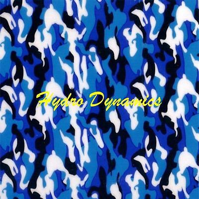 Hydrographics Film Blue & Black Camo Camouflage Water Transfer -Hydro Dynamics