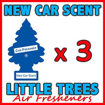3 x NEW CAR SCENT LITTLE TREES AIR FRESHENERS Car Truck Freshener Fragrance