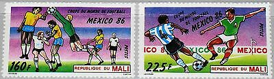 MALI 1986 1068-69 535-37 Soccer World Cup Mexico Fußball WM Football MNH