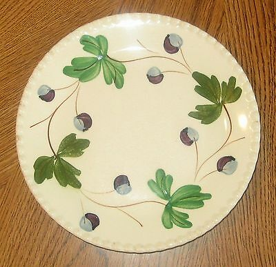 Vintage Blue Ridge Mountain Ivy Bread Plate Hand Painted Southern Potteries