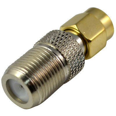 F Type Female Jack to RP-SMA Male Plug Straight RF Coaxial  Adapter Connector