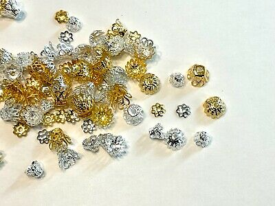 Lot of 200 Mixed Assorted Metal Bead Caps Jewelry Findings ✰✰USA Seller✰✰