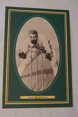 Cricket Collectable Postcard - Hall of Fame Inductee - Jack Blackham