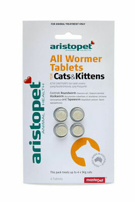 Aristopet All Wormer Worming Tablets for Cats & Kittens - 4 pack treats worms