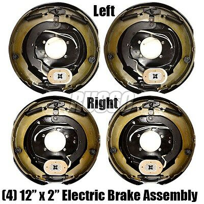 """12"""" x 2"""" Electric Trailer Brake Aseembly Left & Right Side 6000 7000 Axle Brakes"""