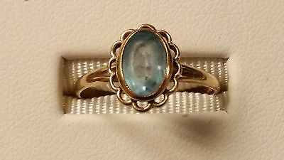 Beautiful Ladies Victorian Art Deco 10K Yellow Gold Ring - Size 7 - Great Gift