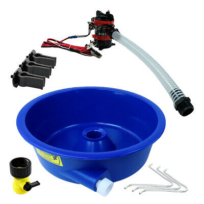 Blue Bowl Concentrator Kit with Pump and Leg Levelers Gold Mining Equipment